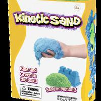 חול קינטי צבע כחול וירוק